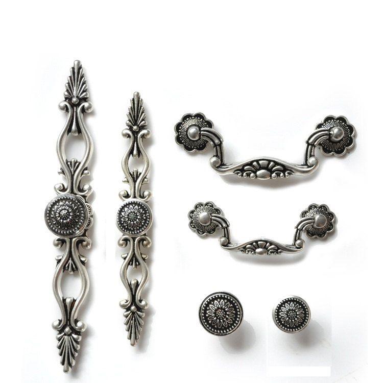 Dresser Knobs Pulls Drawer Pulls Handles Knobs Antique Silver Black ...
