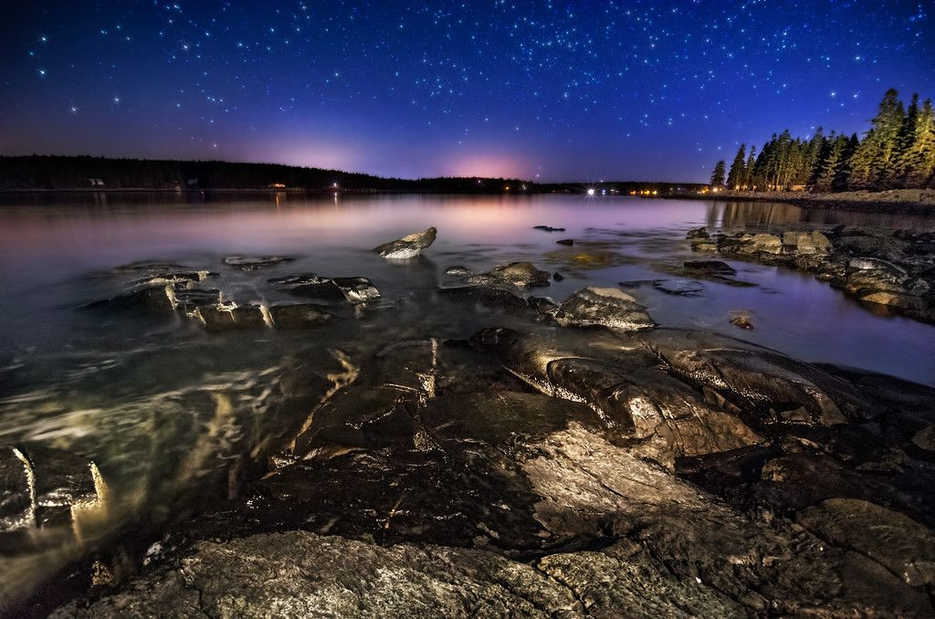 Rocks & Stars Landscape, Monhegan island, Photography