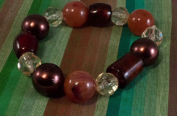 MultiColor Bauble Bracelet with glass and by BigMommasBeadery, $5.00
