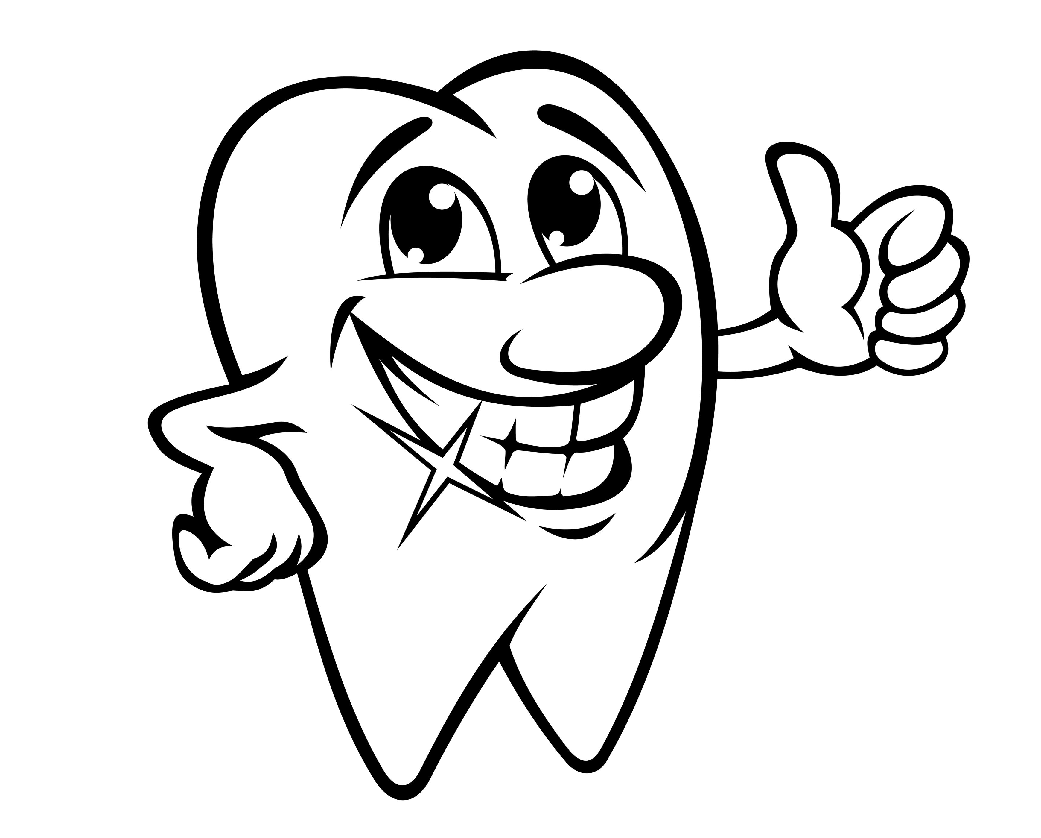 Smiling Tooth Coloring Page