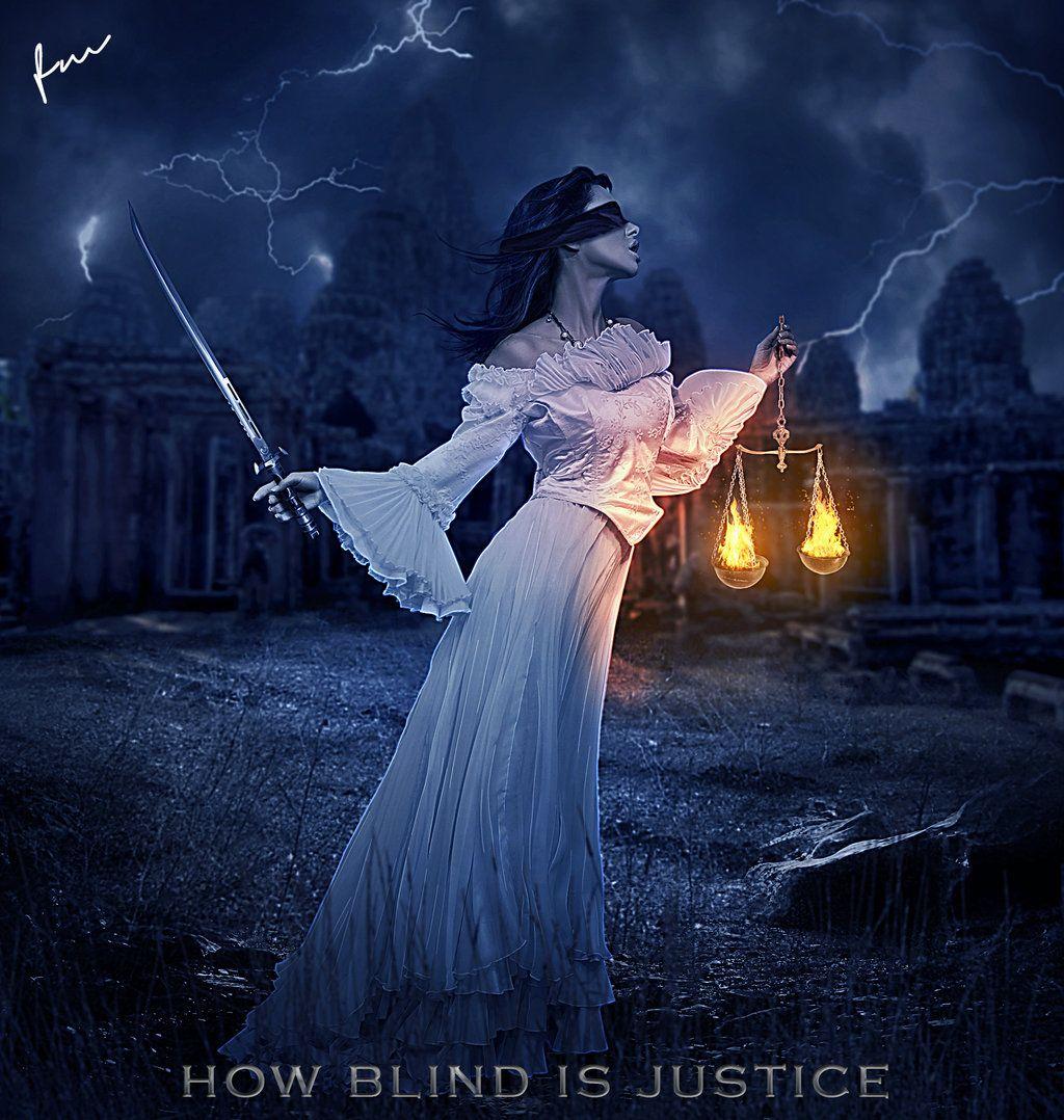 How Blind Is Justice by Secretadmires.deviantart.com on @DeviantArt