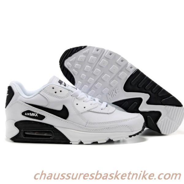 air max 90 leather noir blanc