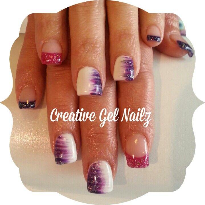 Fanned Gel Nail Design Nails Gel Nail Design Gel Nails
