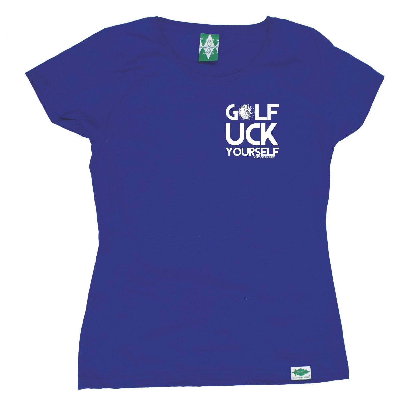 Out Of Bounds Women's Golf Uck Yourself Breast Pocket Golfing T-Shirt