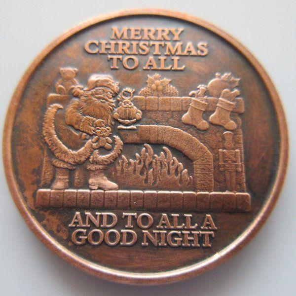 $16 50 Christmas Series ~ Merry Christmas To All 1 oz  999