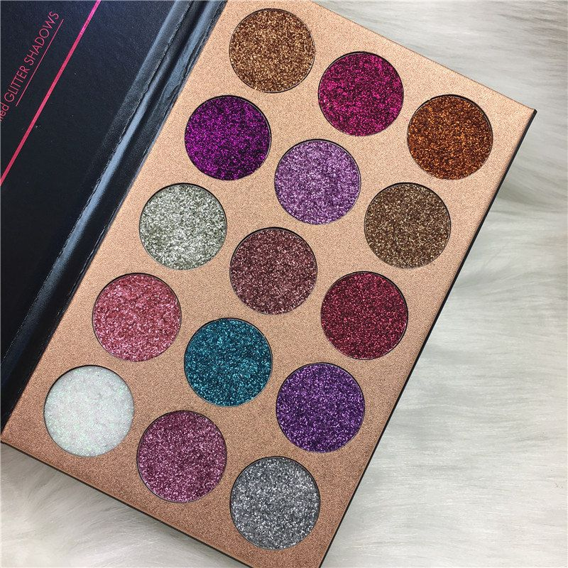 BEAUTY GLAZED Colorful Shimmer Eyeshadow Palette Long