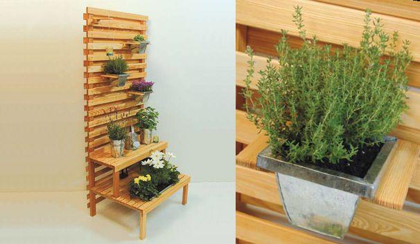 blumentreppe - bauanleitung (diy tutorial german) | garden, Garten seite