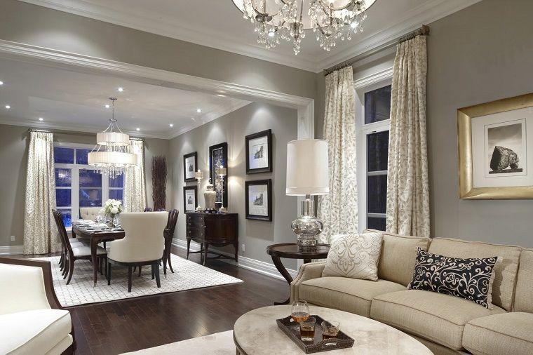 colori pareti soggiorno, una proposta raffinata in grigio ...