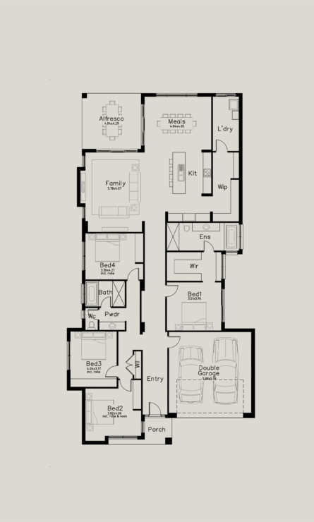 Change Main Bath To A Normal Layout Swap Bed 4 Into A Media Room Done Perfect Maybe At A 4th Bed Best House Plans Beach House Plans 4 Bedroom House Plans