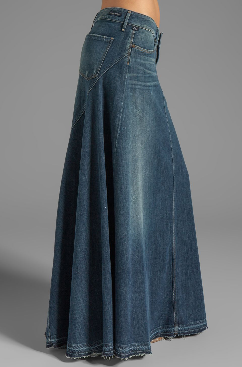 d3137c6606 Citizens of Humanity Jeans Anja Maxi Skirt in Dizzy | REVOLVE | diy ...