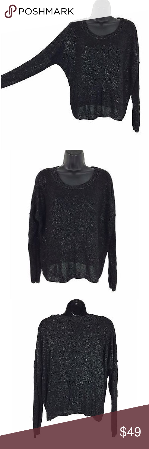 Vince Medium Sweater Black Rayon Vince Medium Sweater Black Rayon.  In great condition.  Measurements laying flat:  shoulder to shoulder: 28 inches. Pit: 27 inches. Length: 21 inches. Sleeve: 15.5 inches. Vince Sweaters
