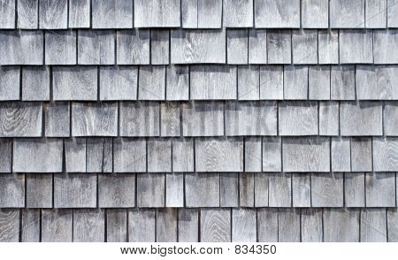 Weathered Wood Shingle Siding Zedernschindeln