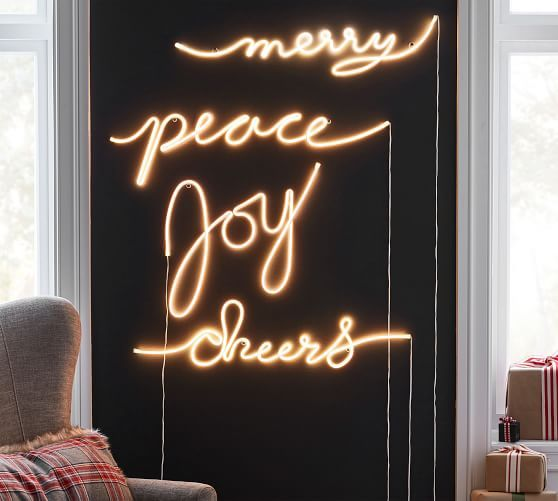 Light Up Sentiment Sign Collection Pottery Barn Light