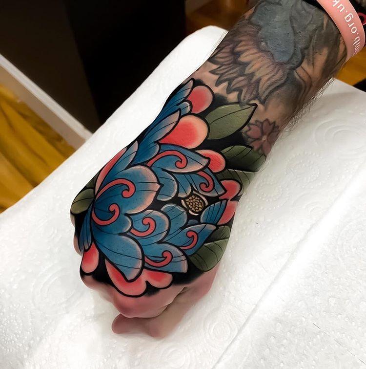 Japanese Inspiration Inkstinct Hand Tattoos For Guys Tattoos Traditional Hand Tattoo