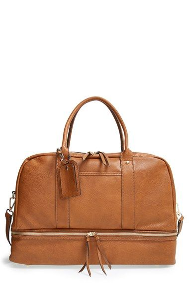 Sole Society 'Mason' Weekend Bag at Nordstrom.com. Make your weekend getaway complete with this ultrachic travel tote cast from soft faux leather. Stocked with a bottom zip-around shoe compartment and spacious interior, this must-have bag lets you pack it all in. WANT!!