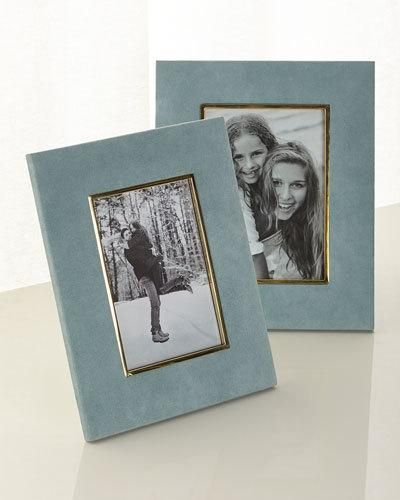 """-7KCR AERIN Azure Valentina Suede Frame, 4"""" x 6""""  and Matching Items"""