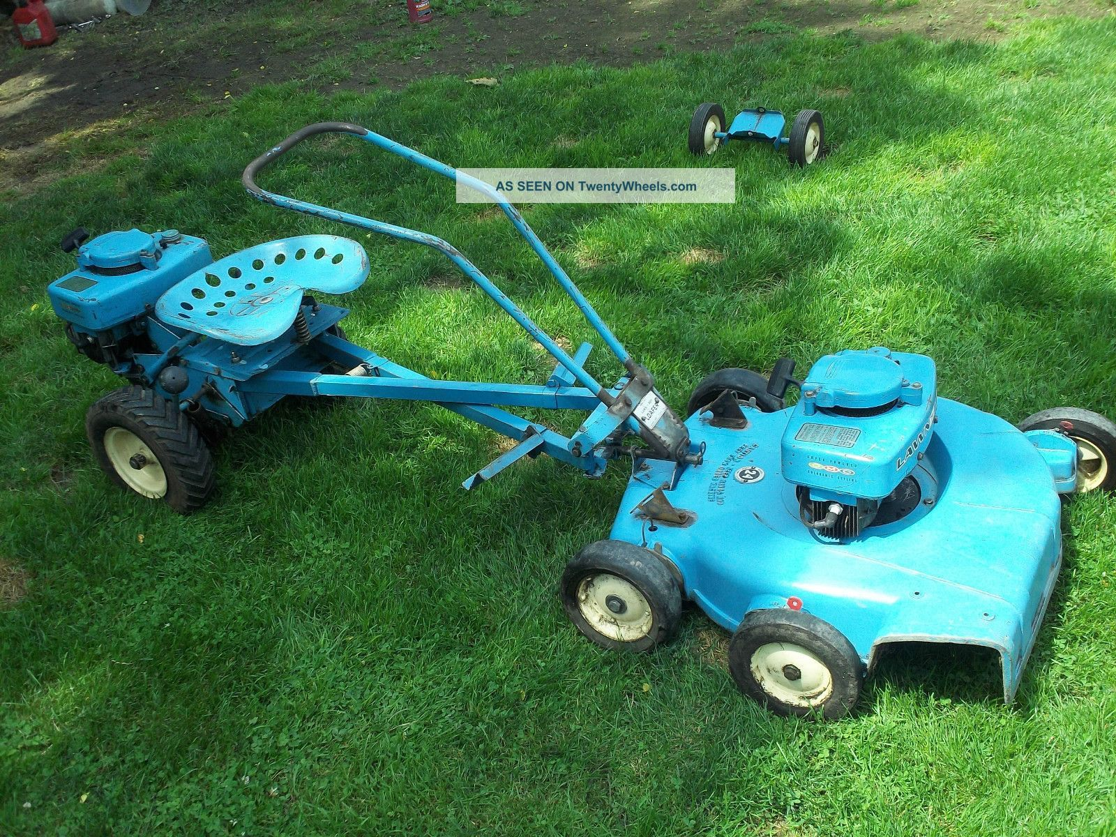1962 Blue Lawn Boy Loafer Riding Lawn Mower Tractor Antique Vintage Tractors Lawn Mower Lawn Mower Tractor Und Riding Lawn Mowers