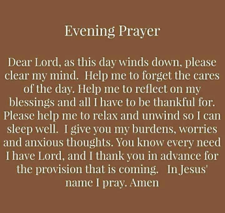 Prayers, Evening Prayer, Prayer