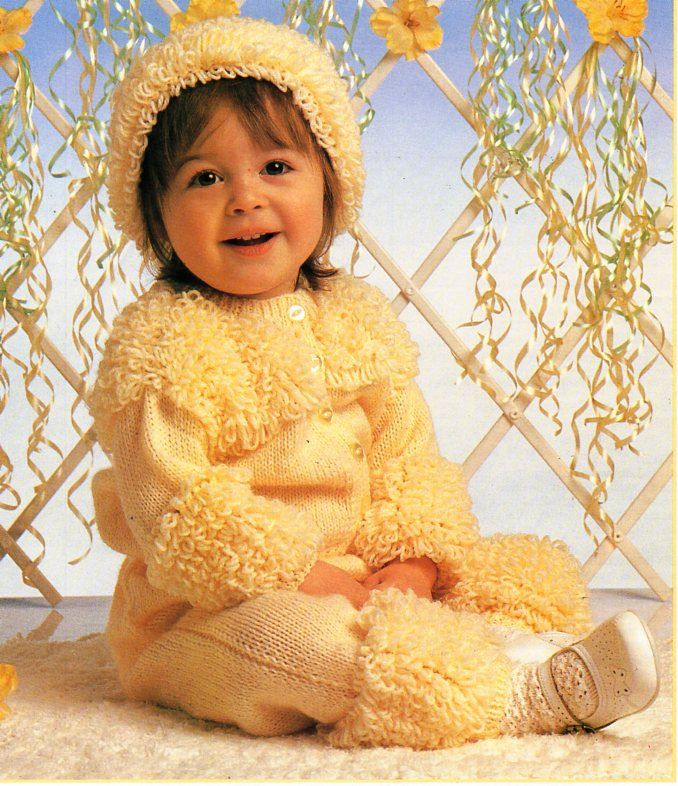 Baby Loopy Cardigan Trousers Hat Knitting Pattern Pdf Baby Loop