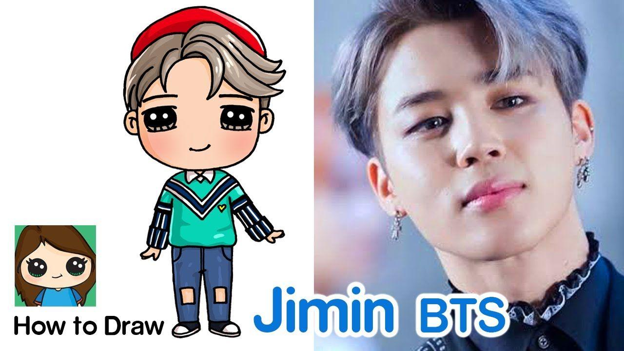 How To Draw A Jimin Bts Mini Idol Doll Youtube Doll Drawing Cute Drawings Cute Kawaii Drawings