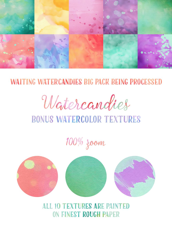10 Watercandies Bonus #free #watercolor #textures on Behance