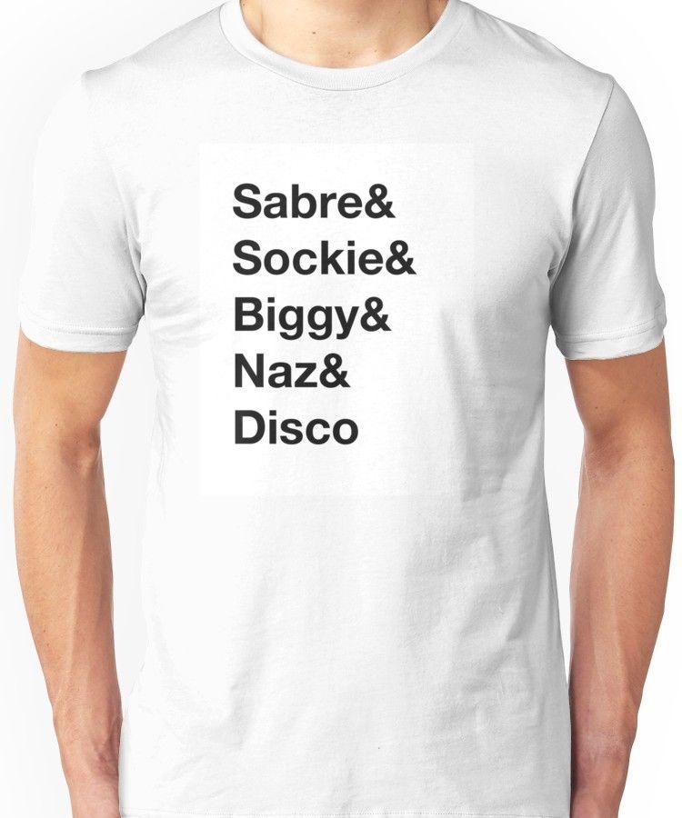 af594cc04 Norris Nuts Merch - Helvetica Name List Design Unisex T-Shirt ...