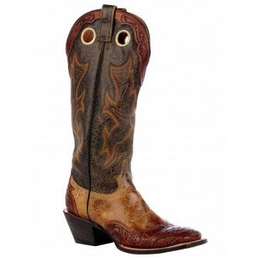 d0e033e0e43 Stetson Buckaroo Boots Mens 2 Tone Brown Hand Tooled Wingtip Square ...