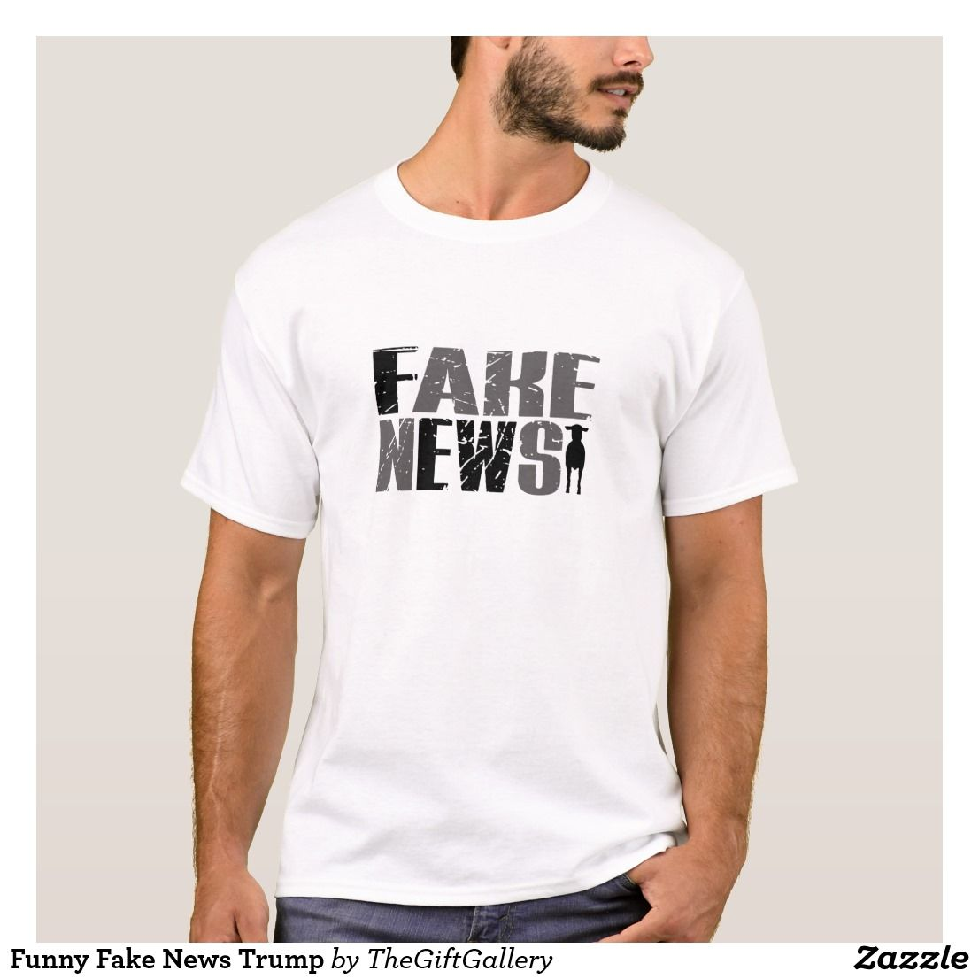 8ebac7a35 Funny Fake News Trump T-Shirt. Funny Fake News Graphic with hidden message.  Fake News Quote with a Ewe (Sheep). Trump Truth. Anti Trump Make America  Great ...