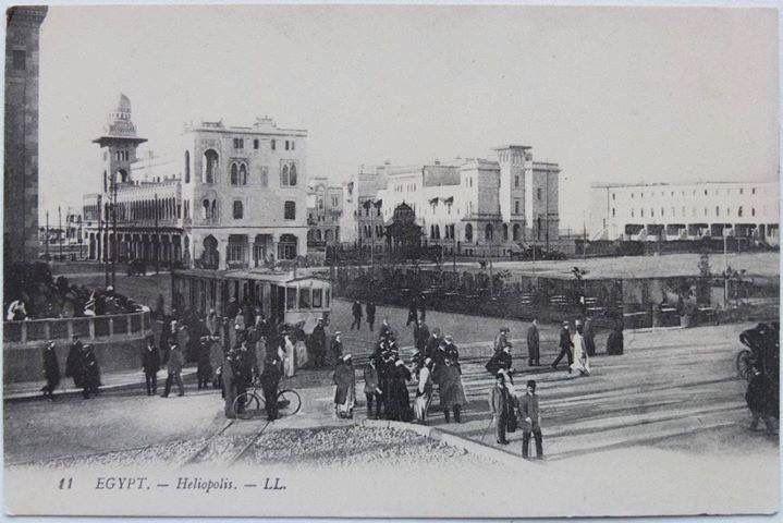 مصر الجديدة في عام 1908 شارع عباس شارع إبراهيم اللقاني في بداية انشاء Old Egypt Egypt Historical Place