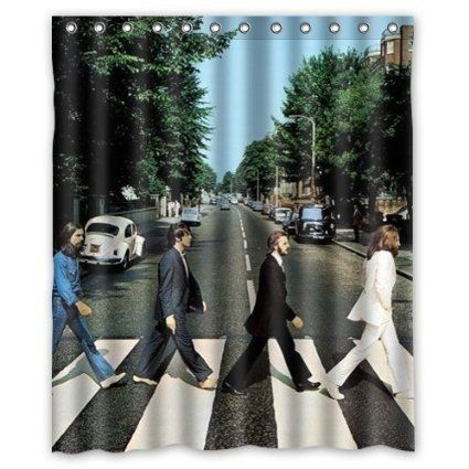 Lovelife The Beatles Abbey Road Rolling Stone Shower Curtain 60x72