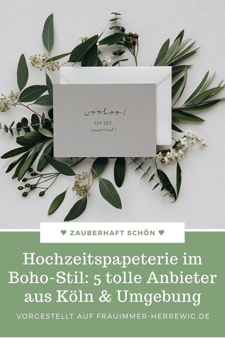 Boho-Stil Hochzeitspapeterie: 5 tolle Anbieter aus Köln