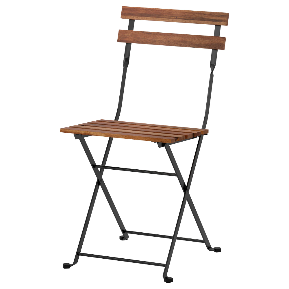 Tarno Chair Outdoor Foldable Acacia Black Gray Brown Stained Steel Light Brown Stained Ikea Folding Dining Chairs Outdoor Dining Chairs Ikea Folding Chairs