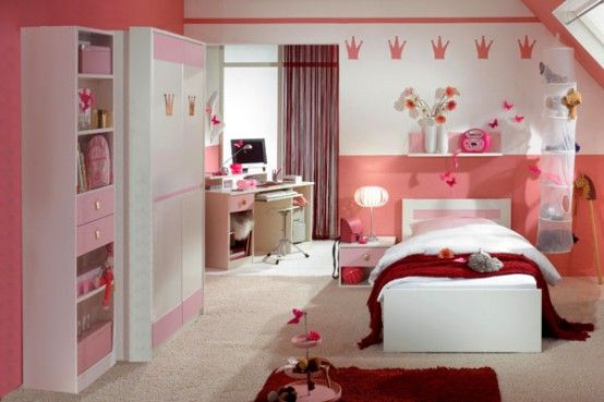 15 Cool Ideas For Pink Girls Bedrooms Mädchen Zimmer