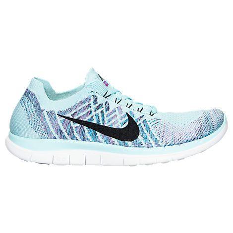 73122a89b9438 Womens Nike Free 4.0 Flyknit Running Shoes - 717076 404