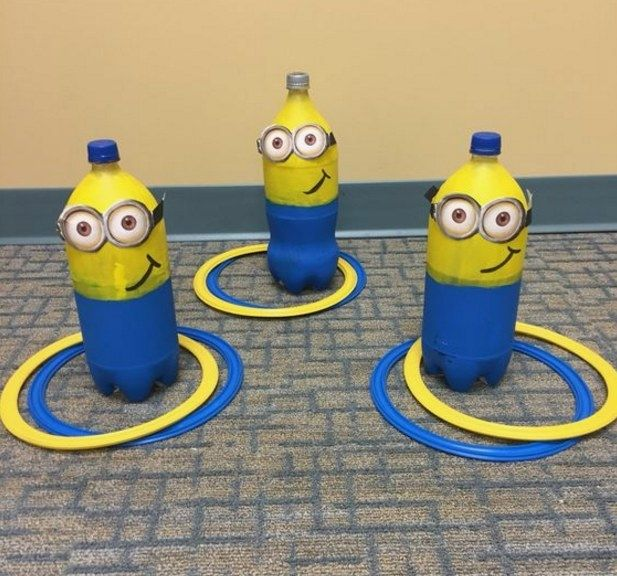Show off your super villain skills with a game of Minions ring toss... 13 Minions Party Ideas For The Ultimate Despicable Me 3 Birthday Party