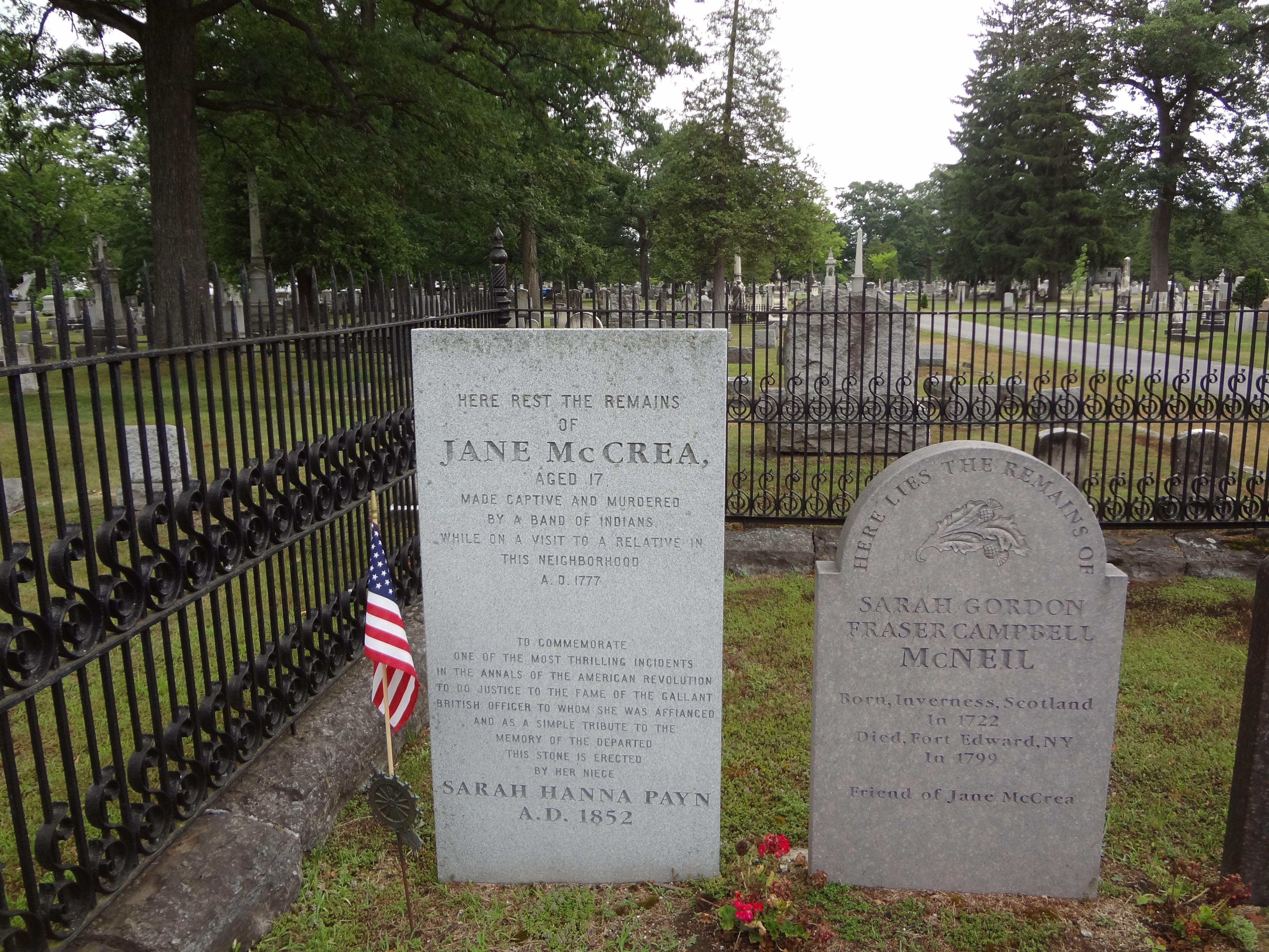 Jane McCrea grave site   Fort Edward, NY