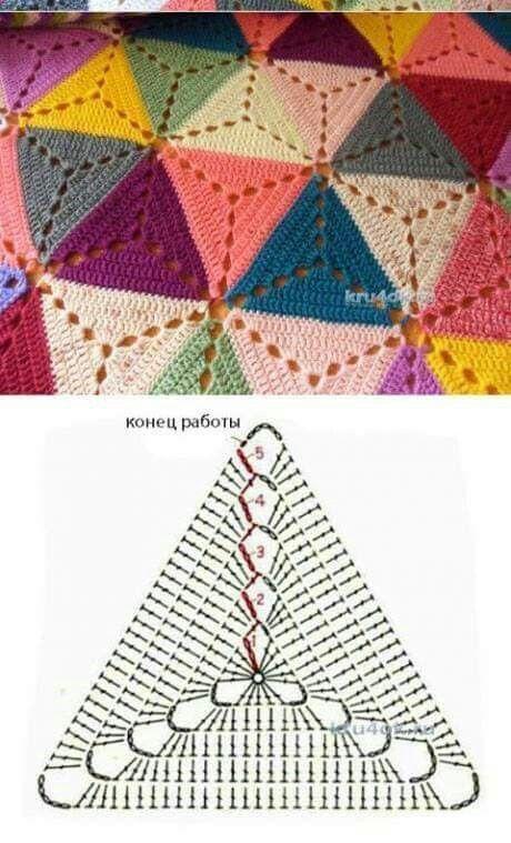 Dreieck-Oma-Quadratmuster - #DreieckOmaQuadratmuster #muster #grannysquares