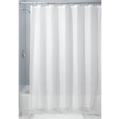 Interdesign 54 X 78 Carlton Fabric Shower Curtain In White