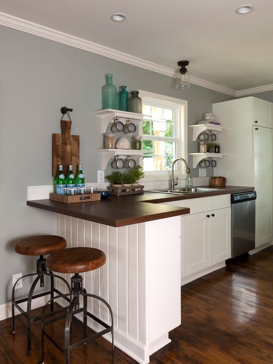 17 Functional Small Kitchen Peninsula Design Ideas #smallkitchendesigns