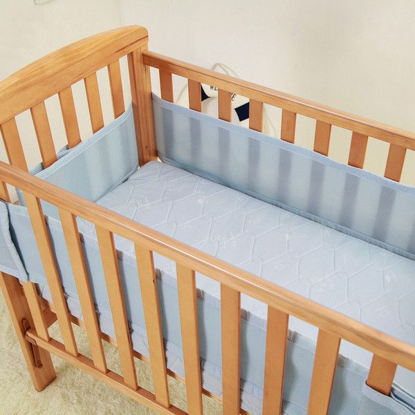 Breathable Mesh Crib Bumpers 3 Layer Mesh Crib Bumper Crib Liners Baby Cot Sets