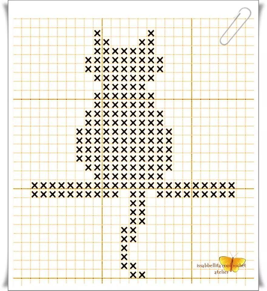 Gatito patron | ganchillo | Pinterest | Gato, Patrones y Recuerdos
