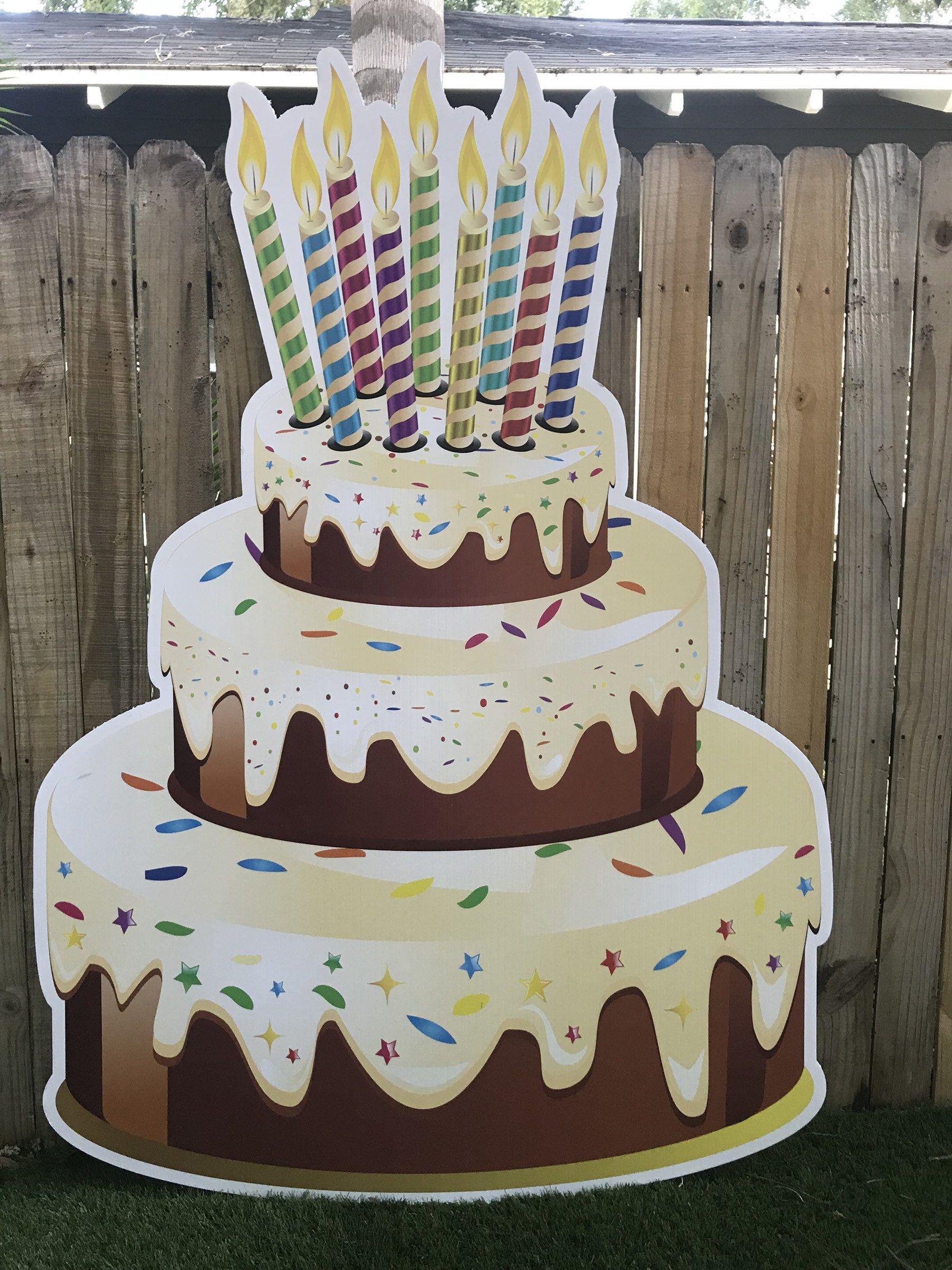 Birthday cake birthday yard sign birthday decoration