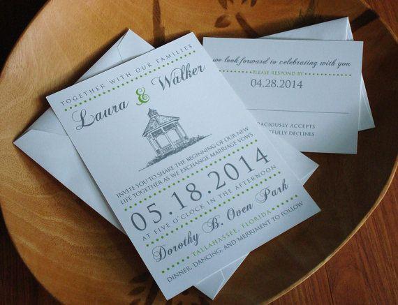 Gazebo Wedding Invitations Whitefield Square Savannah Wedding