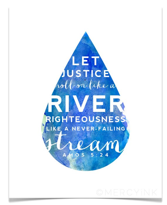 Instant Download Justice Roll Like A River Christian Etsy Christian Scripture Art Scripture Print Bible Quotes Justice