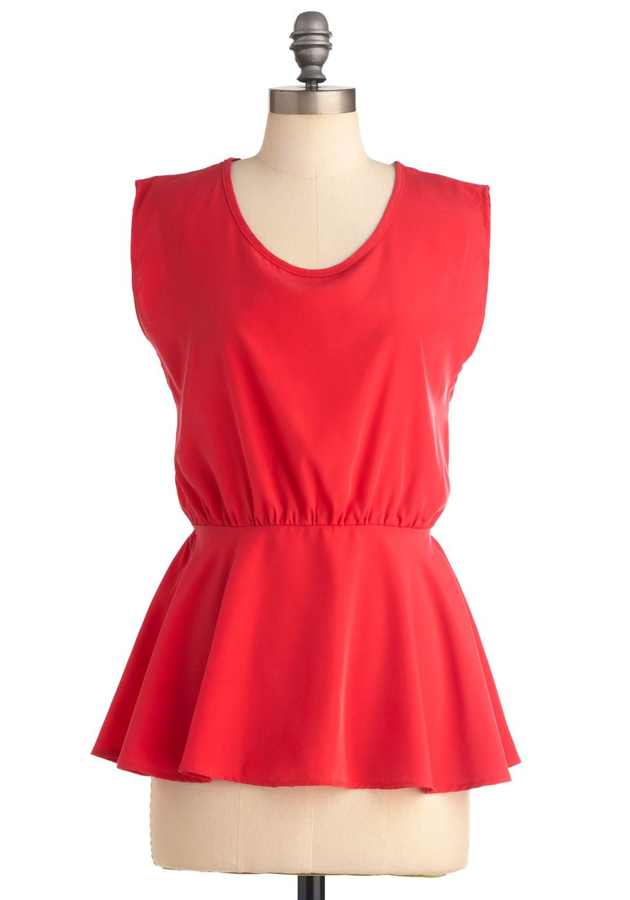 Coral Coasts Top - Pink, Solid, Cutout, Pleats, Sleeveless, Mid-length