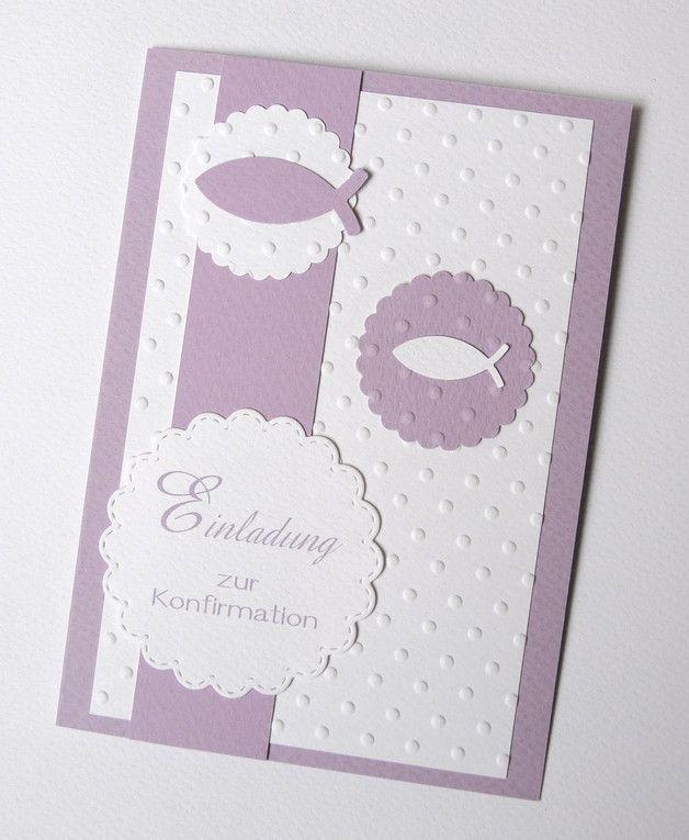 Liebevoll Und Aufwendig Hergestellte Einladung Oder Gluckwunschkarte Zur Konfirmation Kommunion Gluckwunschkarte Konfirmation Karten Einladung Konfirmation