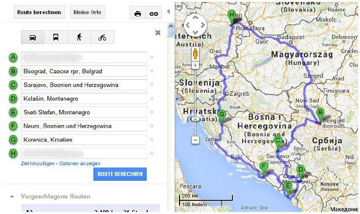 Gestern vor zwei Monaten begann unsere 14tägige Reise die uns an all diese Orte führte. Wir sind insgesamt knapp 4000 km gefahren, auf der Karte ist ganz grob ersichtlich wo wir waren, nicht aber d…