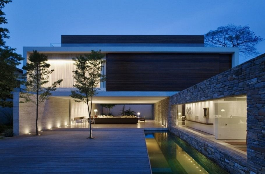 cool amazing minimalist home architect with pool