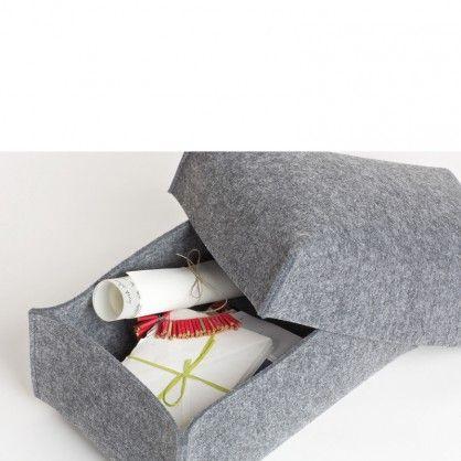 filz aufbewahrungsbox mit deckel im schuhkarton format vielseitig verwendbar f r alles was. Black Bedroom Furniture Sets. Home Design Ideas
