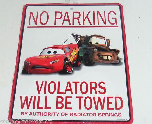 Disney Cars Tow Mater Lightning Mcqueen Metal Sign No
